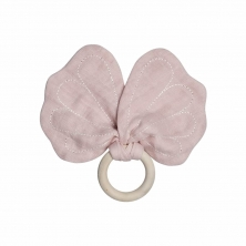 Fabelab teether butterfly - mauve