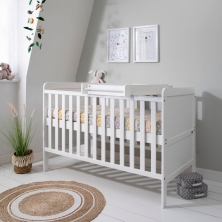 Tutti Bambini Rio Cot Bed Bundle Including Cot Top Changer & Mattress-White