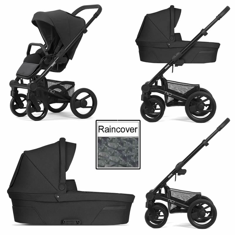 Mutsy Nio Explore 3in1 Black Chassis Steel Grey