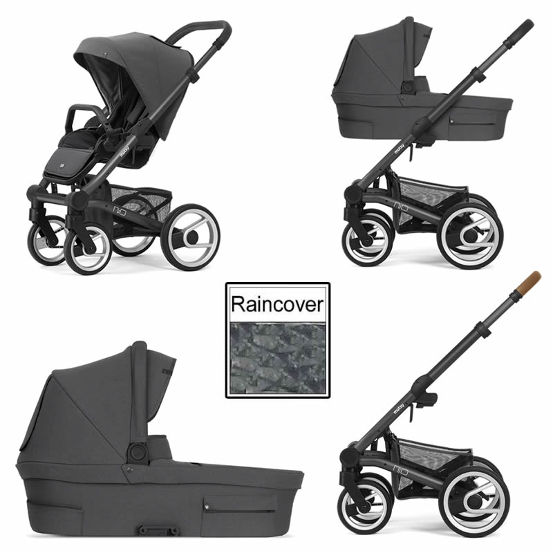 Mutsy Nio Inspire 3in1 Dark Grey Chassis Pearl Grey