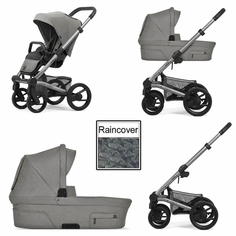 Mutsy Nio North 3in1 Warm Grey Chassis-Stormy Weather