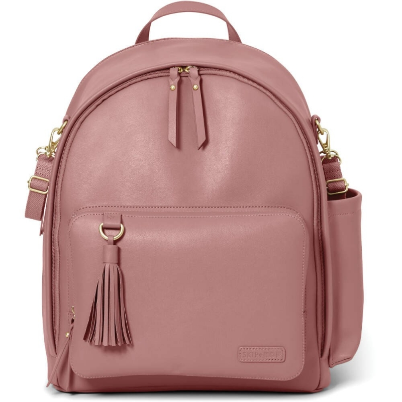 Skip Hop Greenwich Simply Chic Changing Backpack - Dusty Rose