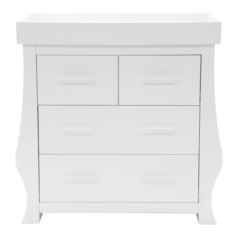 BabyStyle Hollie 4 Drawer Dresser-Fresh White