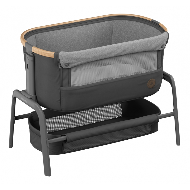 Maxi-Cosi Iora Co-Sleeper Crib-Essential Graphite + 2 Free Organic Fitted Sheets