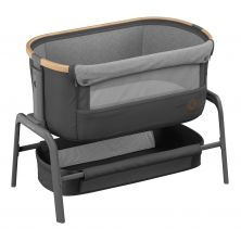 Maxi-Cosi Iora Co-Sleeper Crib-Essential Graphite + Free 2 Organic Fitted Sheets