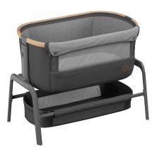 Maxi-Cosi Iora Co-Sleeper Crib-Essential Graphite + FREE 2pk Organic Cotton Sheets