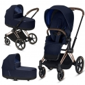 Cybex Priam Rose Chassis All Terrain 2in1 Pram System-Indigo Blue (2019)