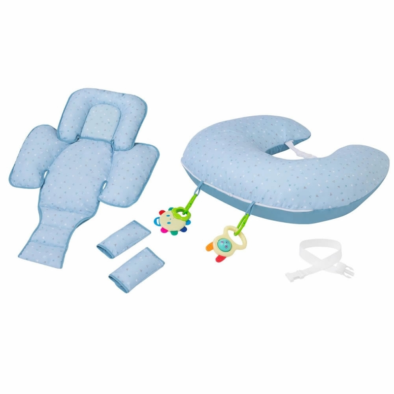 ClevaMama ClevaCushion 10in1 Nursing Pillow-Blue