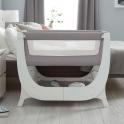 Shnuggle Air Bedside Crib With FREE Crib Mattress-Dove Grey