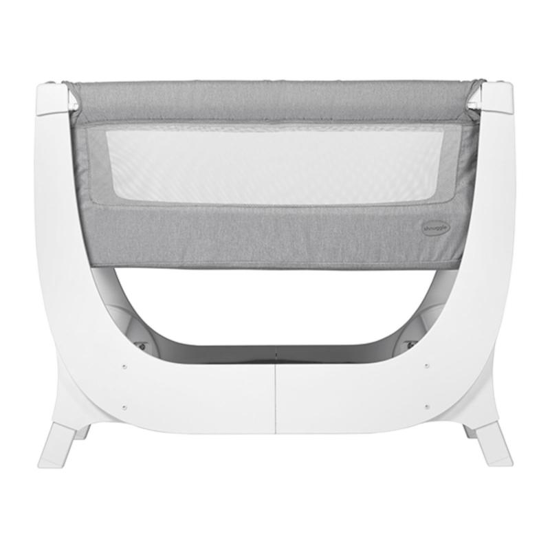 Shnuggle Air 2in1 Bedside Crib / Cot With Air Cot Mattress-Dove Grey