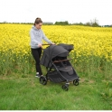 Roma Gemini Double Pram-Black