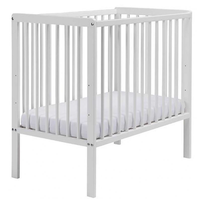 East Coast Carolina Cot-White + Free Foam Mattress!