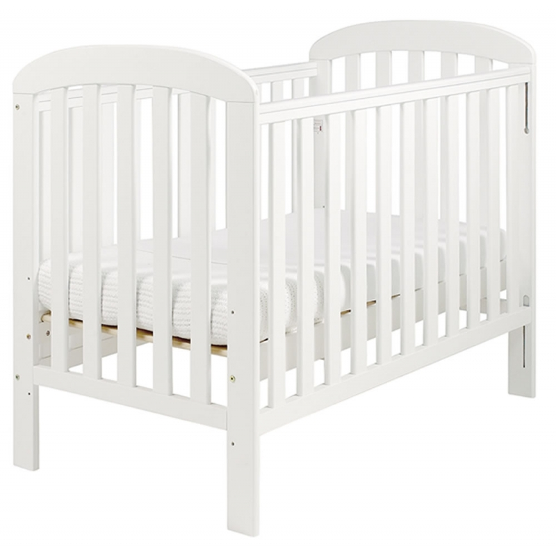 East Coast Anna Dropside Cot-White
