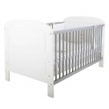 East Coast Angelina Cot Bed-White & Grey