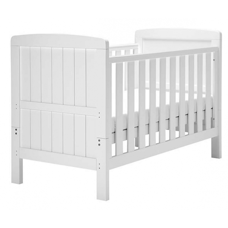 East Coast Austin Cot Bed-White