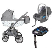 Roma Bambino Amy Childs Travel System-Toucan + Free ISOFIX Car Seat Base Worth £120!