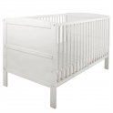 East Coast Hudson Cot Bed-White
