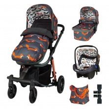 Cosatto Giggle Quad Marvellous Bundle-Charcoal Mister Fox