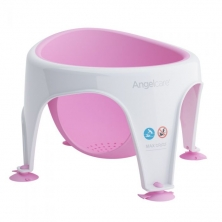 Angelcare Soft Touch Baby Bath Seat- Pink