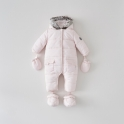 Silver Cross Girls Classic Quilt Pramsuit- Pink 0-3 Months