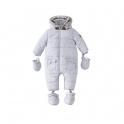 Silver Cross Unisex Classic Quilt Snowsuit- Grey Newborn