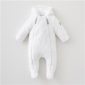 Silver Cross Unisex New Baby Fur Pramsuit- White 0-3 Months