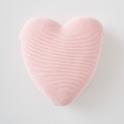 Silver Cross Heart Cushion