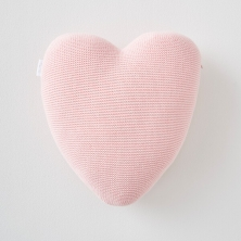 Silver Cross Heart Cushion