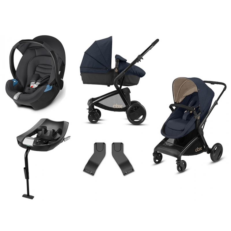 CBX Bimisi Flex 3in1 Travel System with ISOFIX Base-Jeansy Blue