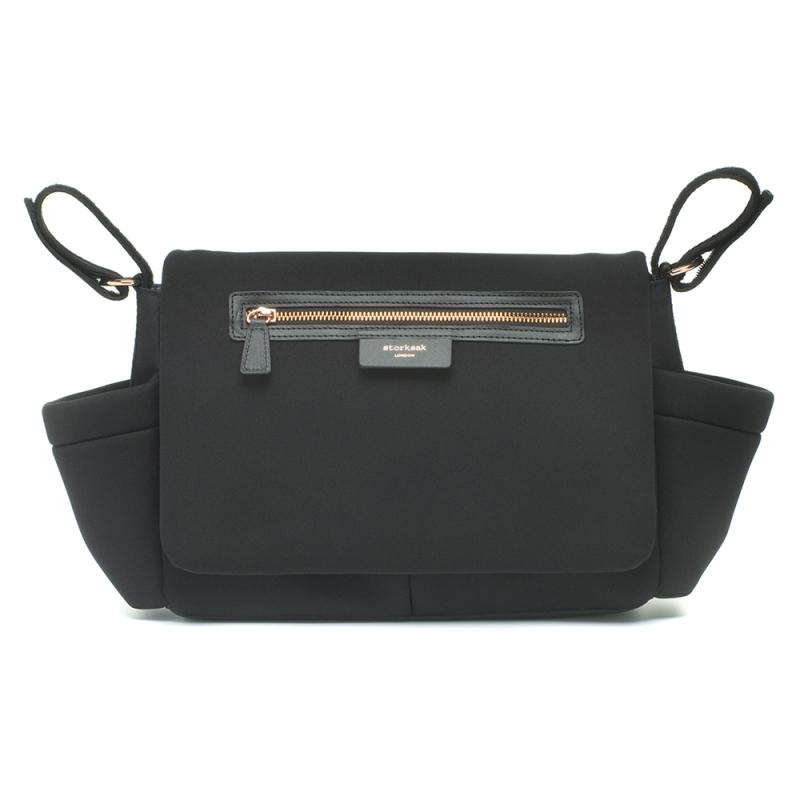 Storksak Luxe Scuba Stroller Organiser-Black