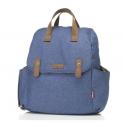 Babymel Robyn PU Changing Bag - Mid-Blue