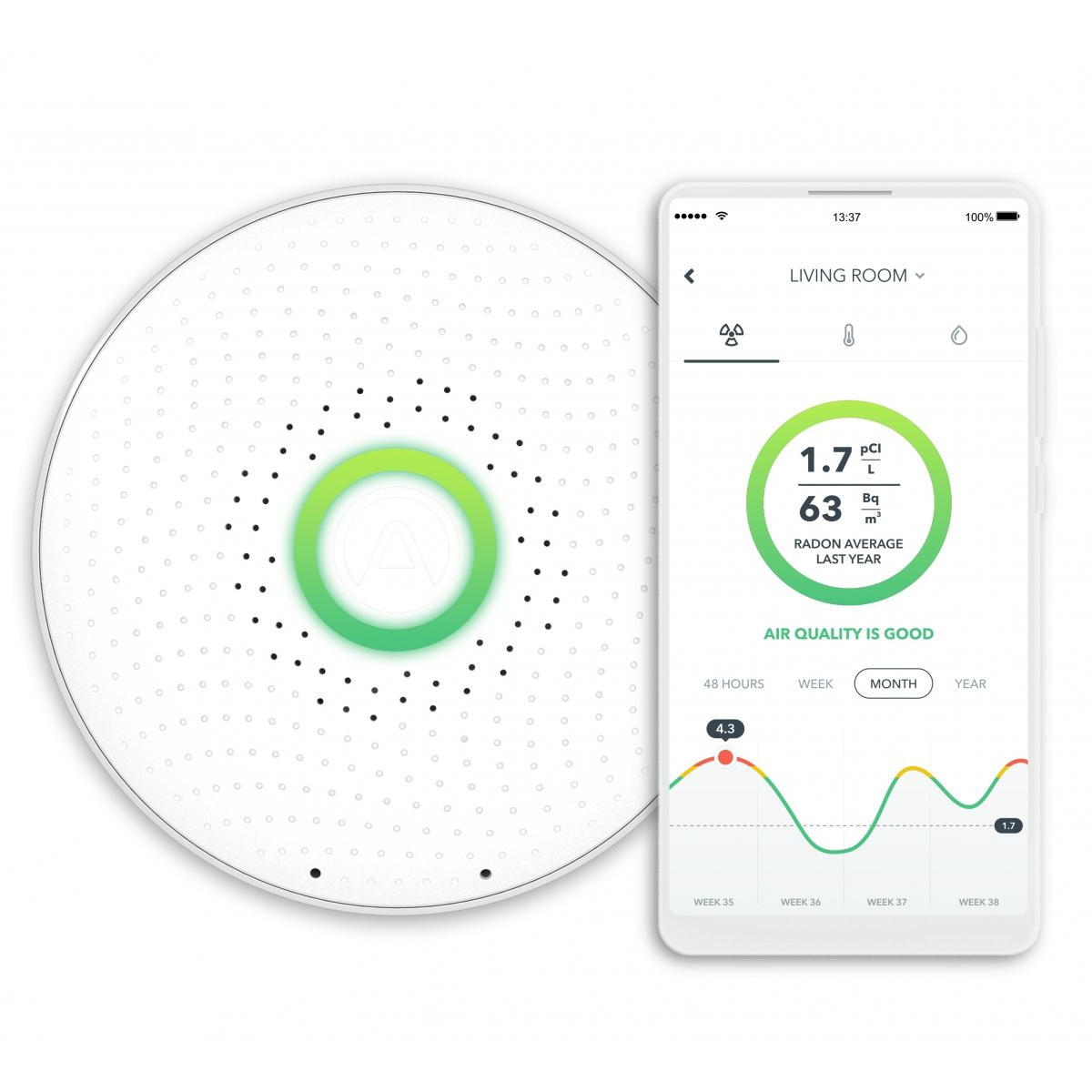 Airthings Wave- Smart Radon Monitor
