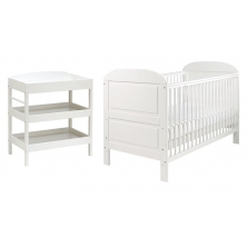 East Coast Angelina 2 Piece (Clara Dresser) Room set-White