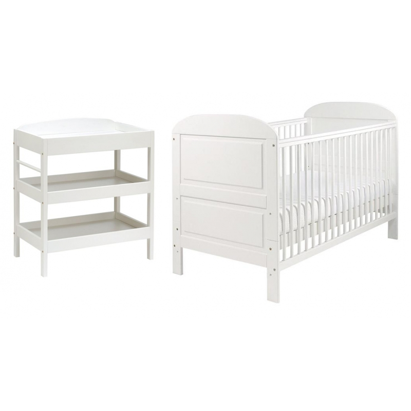East Coast Angelina 2 Piece (Clara Dresser) Room set-White