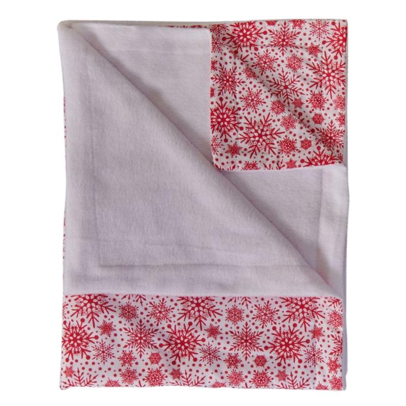 Clair De Lune- Winter Snowflake Fleece Lined Blanket