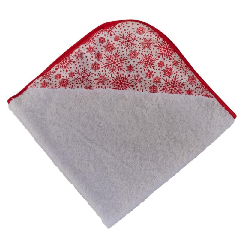 Clair De Luna- Winter Snowflake Hooded Towel