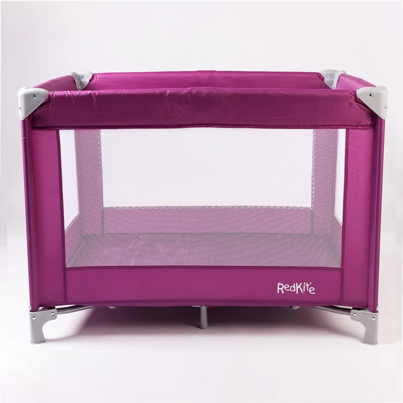 Red Kite Sleep Tight Travel Cot-Raspberry