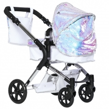 Roma Polly Amy Childs Single Dolls Pram)-Mermaid