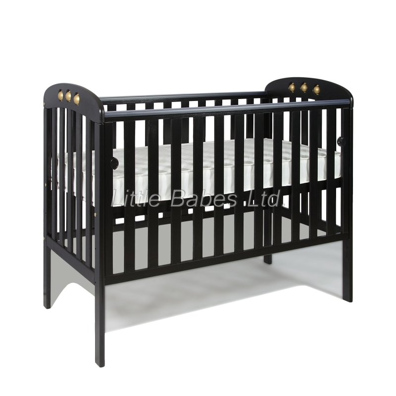 Little Babes Abbie Cot Bed-Black/Gold