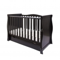 Little Babes Ltd Sleigh Mini Cot Bed-Black