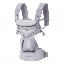 Ergobaby Omni 360 Cool Air Mesh Baby Carrier-Grey Pink Dots
