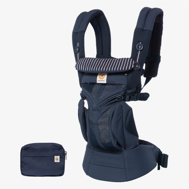 Ergobaby Omni 360 Cool Air Mesh Baby Carrier-Pink Stripes