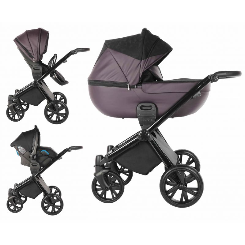 Insevio Synergy 3in1 Travel System-Plum