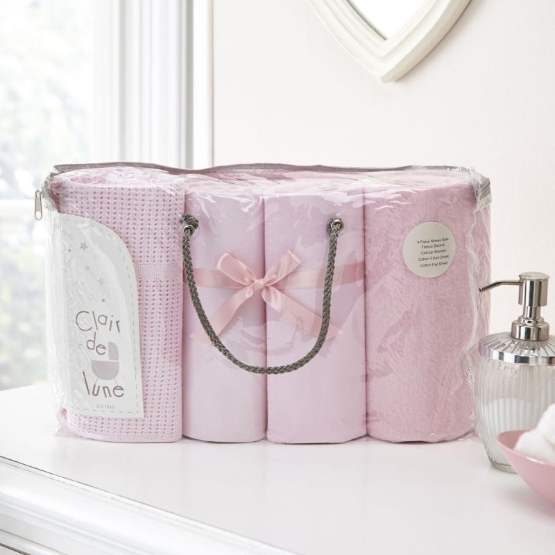 Clair De Lune 4 Piece Bale Bedding Set-Pink
