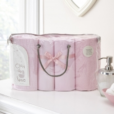 Clair De Lune 4 Piece Bale Bedding Set-Pink