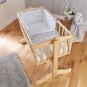Clair De Lune 2pc Crib Quilt & Bumper Bedding Set- Grey