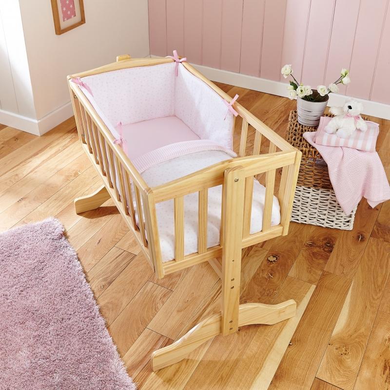 Clair De Lune 2pc Crib Quilt & Bumper Bedding Set- Pink