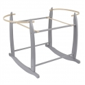Clair De Lune Deluxe Moses Basket Rocking Stand- Grey
