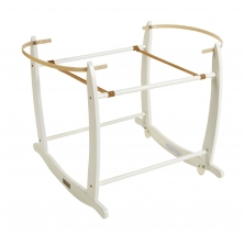Clair De Lune Deluxe Moses Basket Rocking Stand- White