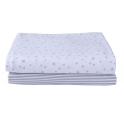 Clair De Lune 2 Pack Fitted Cot Bed Sheets-Grey